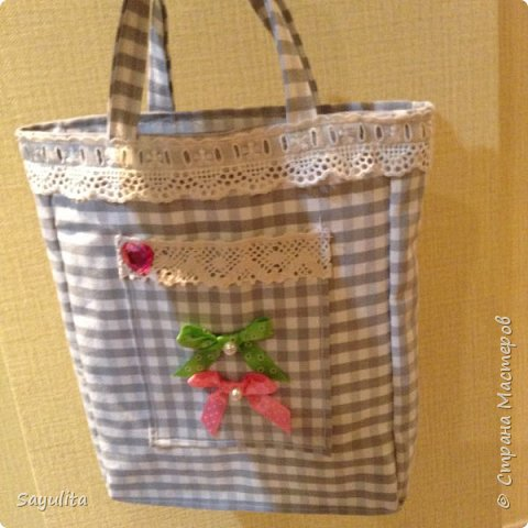 Первая сумочка для садика фото 1