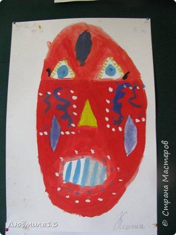 Детки пошалили на тему африканских масок. Выбрала самые колоритные. фото 1