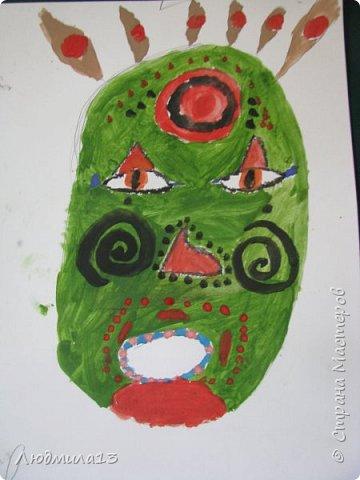 Детки пошалили на тему африканских масок. Выбрала самые колоритные. фото 5