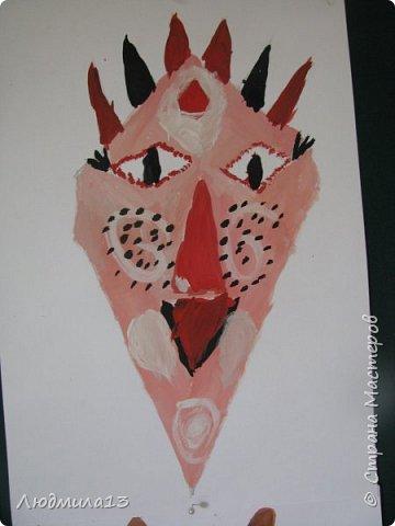 Детки пошалили на тему африканских масок. Выбрала самые колоритные. фото 4