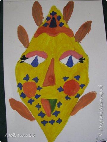 Детки пошалили на тему африканских масок. Выбрала самые колоритные. фото 2
