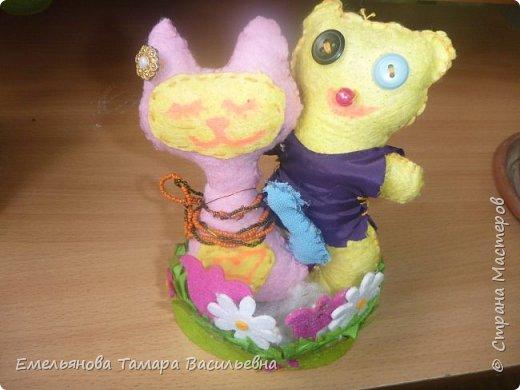 С 5 классами стали шить игрушки из фетра. фото 2