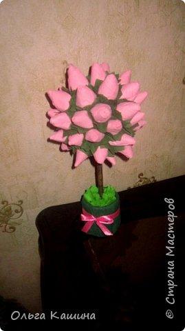 Букетик и деревце из бутончиков роз фото 2