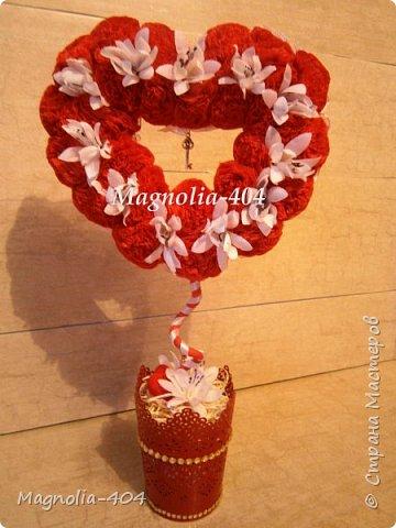 """Всем, всем, всем Здравствуйте!!! Думала сердечки уже закончились, но всегда бывает """"форс мажор"""", так и у меня, нужно было срочно сделать добавку к цветам на день Святого Валентина для девушки моего сына. фото 1"""