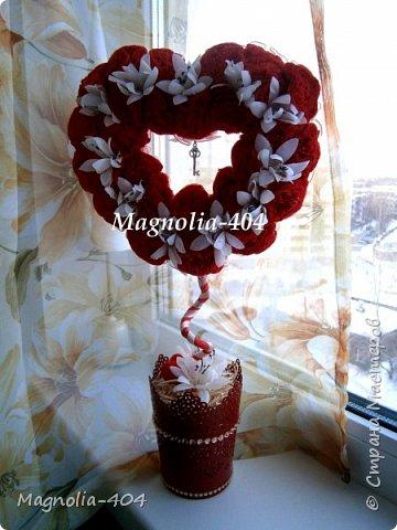 """Всем, всем, всем Здравствуйте!!! Думала сердечки уже закончились, но всегда бывает """"форс мажор"""", так и у меня, нужно было срочно сделать добавку к цветам на день Святого Валентина для девушки моего сына. фото 6"""