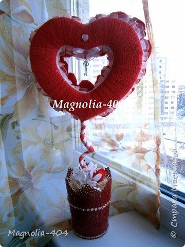 """Всем, всем, всем Здравствуйте!!! Думала сердечки уже закончились, но всегда бывает """"форс мажор"""", так и у меня, нужно было срочно сделать добавку к цветам на день Святого Валентина для девушки моего сына. фото 7"""