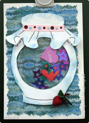 Увидели в СМ открытки-шейкер... И захотелось сделать самими. Шаблон к этому самому лучшему в мире лекарству подглядели у Лидии Петровны (hobby66) : http://stranamasterov.ru/node/1000404 фото 3