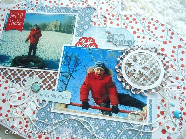 """Всем привет! Покажу сегодня альбом - варежку про зимние прогулки по нашему городу.   Идея сделать альбом в форме варежки про Лешины зимние игры созрела давно,  а после участия в качестве ПД в задании ОСК """"В формате МАКРО: Спящие растения зимой"""" пришла мысль показать красоту Зейской зимы, так сложился этот альбом. фото 15"""