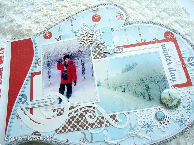 """Всем привет! Покажу сегодня альбом - варежку про зимние прогулки по нашему городу.   Идея сделать альбом в форме варежки про Лешины зимние игры созрела давно,  а после участия в качестве ПД в задании ОСК """"В формате МАКРО: Спящие растения зимой"""" пришла мысль показать красоту Зейской зимы, так сложился этот альбом. фото 27"""
