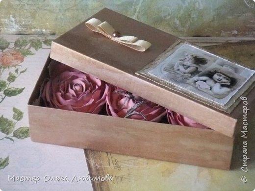 """Подарочная коробочка с розочками """"Сюрприз"""" фото 3"""