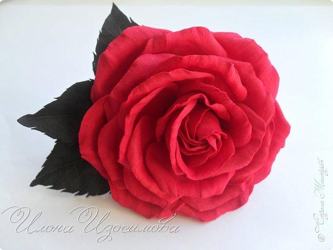 Розы из фоамирана(резиночки и заколки) фото 8