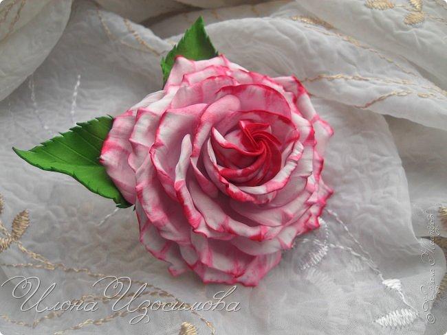 Розы из фоамирана(резиночки и заколки) фото 5