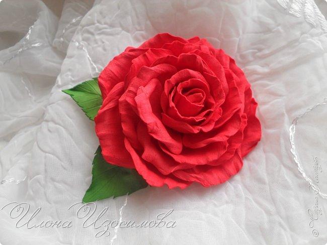 Розы из фоамирана(резиночки и заколки) фото 3