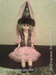 в детском саду дали куклу и попросили сшить казахский национальный костюм вот такая леди у нас получилась фото 1