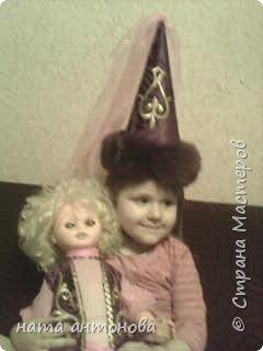 в детском саду дали куклу и попросили сшить казахский национальный костюм вот такая леди у нас получилась фото 2