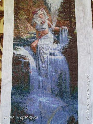"""Приветствую всех!!Представляю вам свои работы, вышитые крестиком. Надеюсь вам понравятся.)) """"Богиня моря"""" фото 9"""