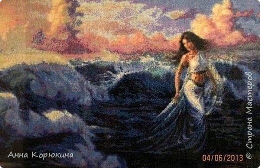 """Приветствую всех!!Представляю вам свои работы, вышитые крестиком. Надеюсь вам понравятся.)) """"Богиня моря"""" фото 1"""