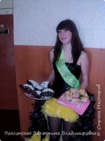 Платье из одноразовых пакетов  фото 5
