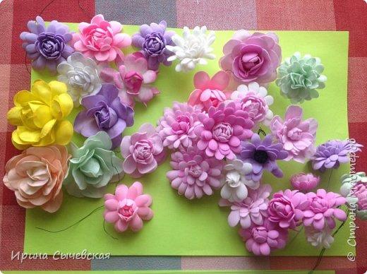 Мои цветочки делала еще год назад