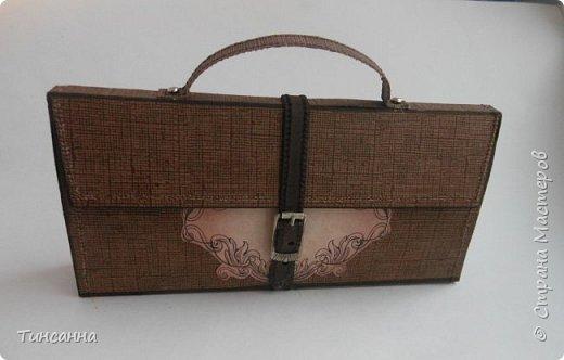 Шоколадница к празднику 23 февраля- подарок в виде  мужской сумочки - барсетки. фото 2