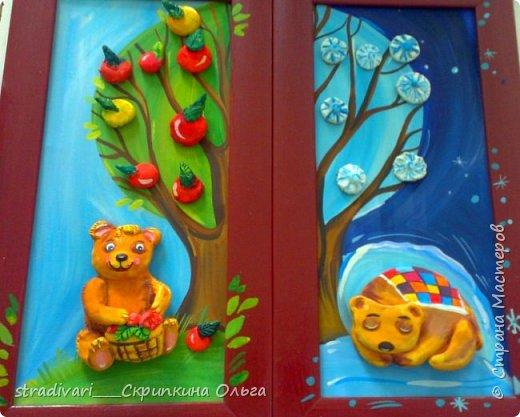 Мишка летний и зимний фото 1