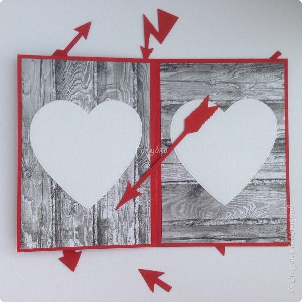 Вот такую открытку сделала от имени любимой и любящей жены:)  на Валентинов день:) фото 3