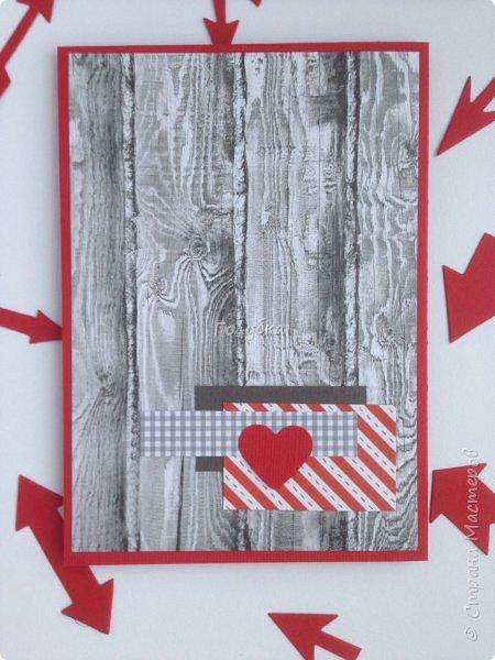 Вот такую открытку сделала от имени любимой и любящей жены:)  на Валентинов день:) фото 4