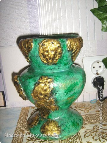 Малахитовая ваза фото 2