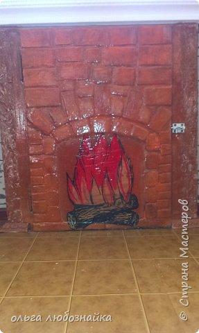 Всем здрямсте! Вот решила сделать каминчик себе в кухне под ркном, а точнее украсить дверь зимнего холодильника. фото 2