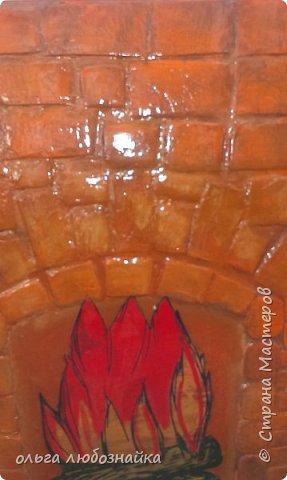 Всем здрямсте! Вот решила сделать каминчик себе в кухне под ркном, а точнее украсить дверь зимнего холодильника. фото 4