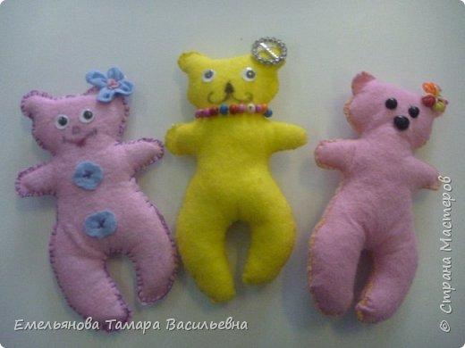 С 5 классами стали шить игрушки из фетра. фото 27