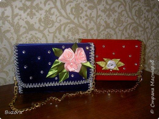 Вот такие коробочки - сумочки  начала делать в подарок подругам. Это подарочная упаковка для конфет. фото 1