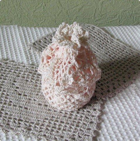 Текстильная сумочка в стиле шебби-шик.   Пряжа Ирис 100% хлопок. фото 2