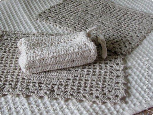Текстильная сумочка в стиле шебби-шик.   Пряжа Ирис 100% хлопок. фото 7