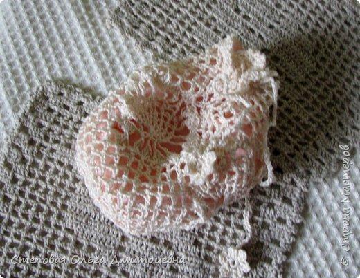 Текстильная сумочка в стиле шебби-шик.   Пряжа Ирис 100% хлопок. фото 3