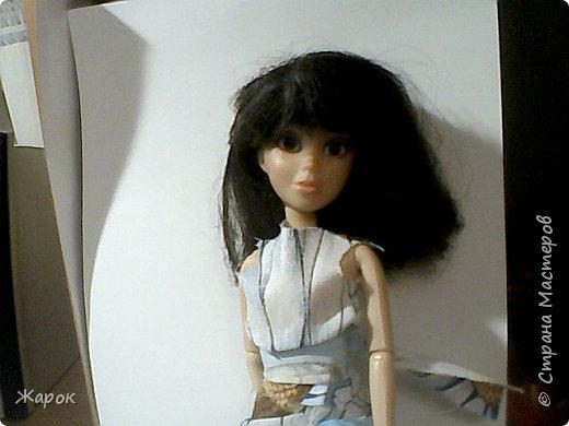 Привет СМ! Наконец-то мои руки дошли до Микки. Сегодня я ей сшила такой ромашковый комплект.Состоящий из : юбки и майки. Ну,а далее не большой фотосет. фото 1