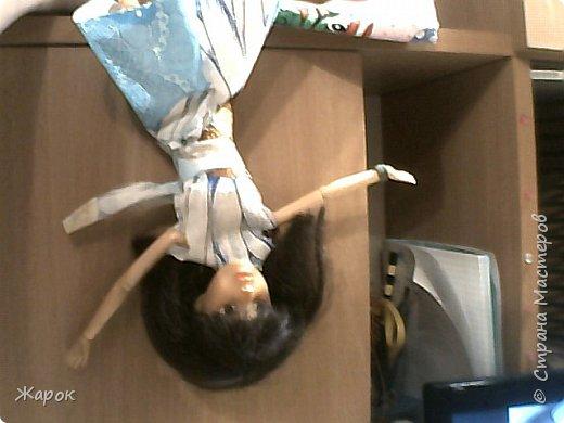 Привет СМ! Наконец-то мои руки дошли до Микки. Сегодня я ей сшила такой ромашковый комплект.Состоящий из : юбки и майки. Ну,а далее не большой фотосет. фото 3