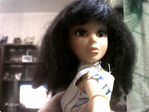 Привет СМ! Наконец-то мои руки дошли до Микки. Сегодня я ей сшила такой ромашковый комплект.Состоящий из : юбки и майки. Ну,а далее не большой фотосет. фото 6