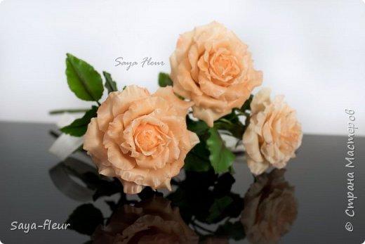 Здравствуйте, хотела бы показать свою работу, мои любимые розочки, стараюсь сделать соотношение качества и доступности, цветы пахнут настоящими розами. Сделаны из полимерной глины. фото 3
