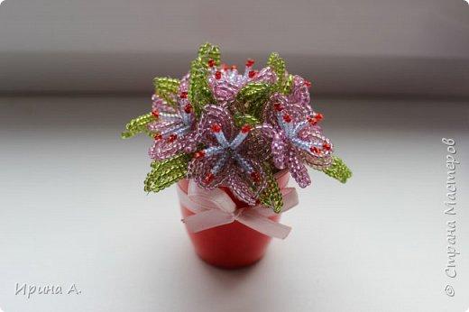 Цветы из бисера фото 11