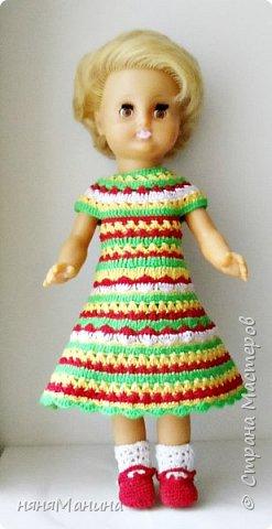 Продолжаю одевать своих кукол)))) Мерида от Дисней Аниматорс...туника связана по МК Ольги Тиунчик, штанишки - мои)))  фото 6