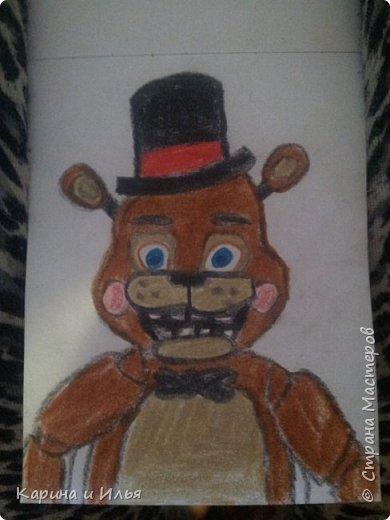 Привет! Вчера я нарисовала Той Фредди (Мой самый-самый любимый аниматроник!)! Получилось (для первого раза) хорошо)
