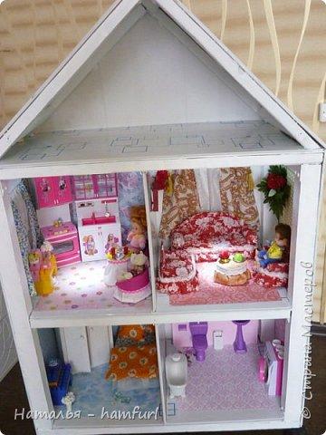 Наш кукольный дом. На первом этаже проведен свет фото 1