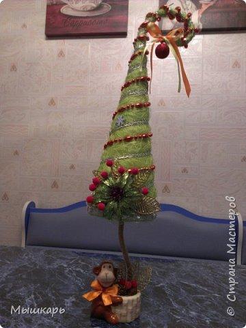 Приветствую всех! Эту первую ёлку сделала задолго до Нового года. фото 3