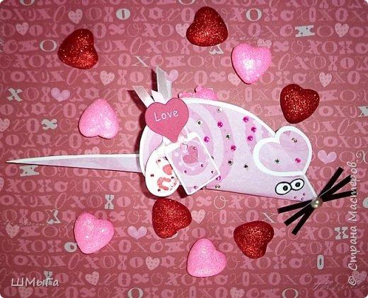 Мышка-валентинка с сюрпризом. фото 1