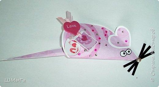 Мышка-валентинка с сюрпризом. фото 3