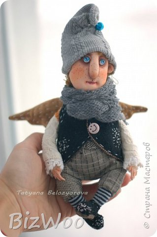 Доброго всем дня! Этот год я начала с новых кукол в смешанной технике. Они все полностью на проволочном каркасе. Рост от 15 до 35 см. фото 2