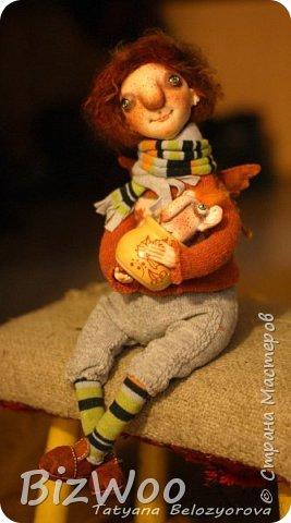 Доброго всем дня! Этот год я начала с новых кукол в смешанной технике. Они все полностью на проволочном каркасе. Рост от 15 до 35 см. фото 4