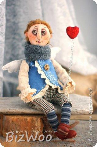 Доброго всем дня! Этот год я начала с новых кукол в смешанной технике. Они все полностью на проволочном каркасе. Рост от 15 до 35 см. фото 7