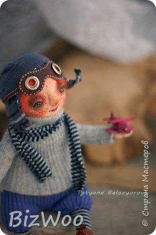 Доброго всем дня! Этот год я начала с новых кукол в смешанной технике. Они все полностью на проволочном каркасе. Рост от 15 до 35 см. фото 8